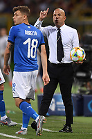 Nicolo Barella of Italy, Luigi Di Biagio coach of Italy <br /> Bologna 16-06-2019 Stadio Renato Dall'Ara <br /> Football UEFA Under 21 Championship Italy 2019<br /> Group Stage - Final Tournament Group A<br /> Italy - Spain <br /> Photo Andrea Staccioli / Insidefoto