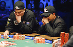 Lee Childs agonizes over making a call against Jerry Yang.  He folded.