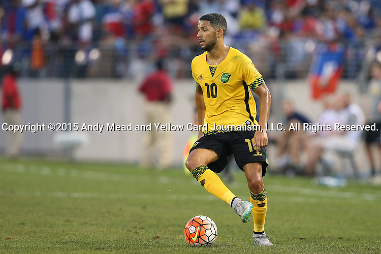 18 July 2015: Joel McAnuff (JAM). The Jamaica Men's National Team played the Haiti Men's National Team at M&T Bank Stadium in Baltimore, Maryland in a 2015 CONCACAF Gold Cup quarterfinal match. Jamaica won the game 1-0.
