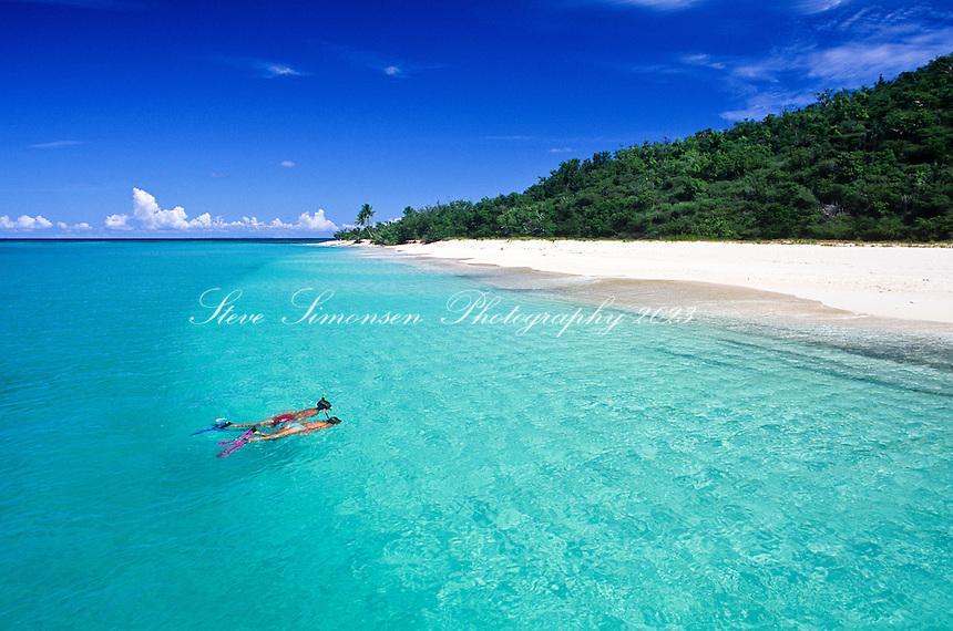 Snorkelers at Buck Island National Monument<br /> St Croix, U.S. Virgin Islands