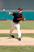 Steve Edlefsen  - San Francisco Giants - 2009 spring training.Photo by:  Bill Mitchell/Four Seam Images