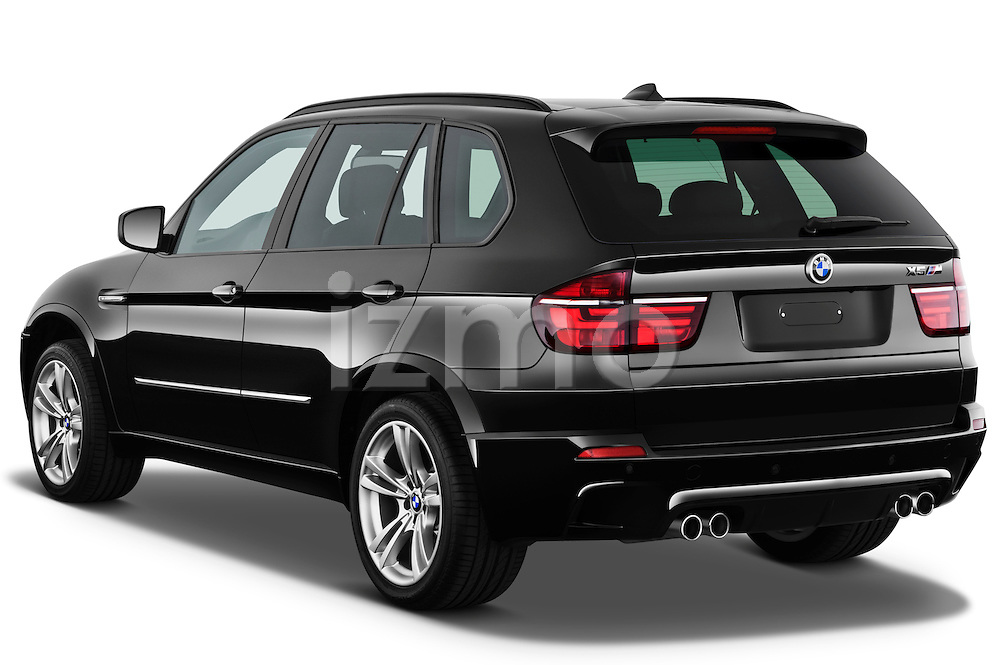 Rear three quarter view of a 2013 BMW X5 M