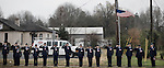 December 21, 2007. Mint Hill, NC.. A funeral was held for Cpl. Joshua C. Blaney in Charlotte, NC. Cpl. Blaney died on December 12 from injuries sustained when an IED exploded near his vehicle in Afghanistan. He was 25.. Around a hundred people lined the streets around the funeral home to honor Cpl. Blaney as his body was taken to the church for services. The local Jr. ROTC lined one side of the main street.