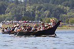 Canoe Journey, Paddle to Nisqually, 2016, Chinook Nation, tribal canoes arriving in Olympia, Washington, 7-30-2016, Salish Sea, Puget Sound, Washington State, USA,
