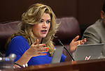 Nevada Sen. Patricia Farley, R-Las Vegas, works in committee at the Legislative Building in Carson City, Nev., on Monday, March 30, 2015. <br /> Photo by Cathleen Allison