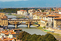 Panoramic view of The Ponte Vecchio - Florence Italy.