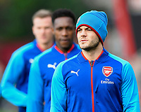 Jack Wilshere of Arsenal during the warm up during AFC Bournemouth vs Arsenal, Premier League Football at the Vitality Stadium on 14th January 2018