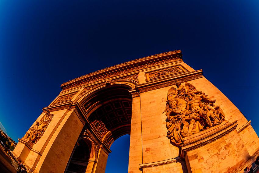 The Arc de Triomphe (The Arc de Triomphe de l'Étoile) is one of the most famous monuments in Paris, France, standing at the western end of the Champs-Élysées at the centre of Place Charles de Gaulle, formerly named Place de l'Étoile.