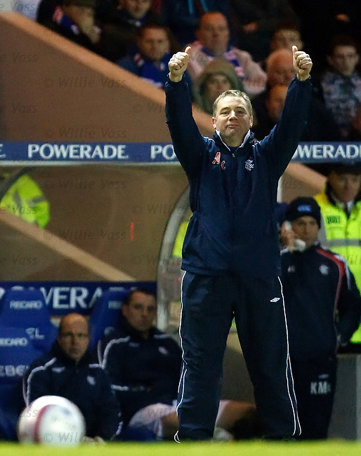 Ally McCoist gived his seal of approval after Rangers record a 2-0 victory at home