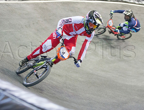 19.04.2015.  Manchester, England. BMX Supercross Day Two. Simone Christensen (DEN) during the Elite Women 1/4 Finals (1st Round).