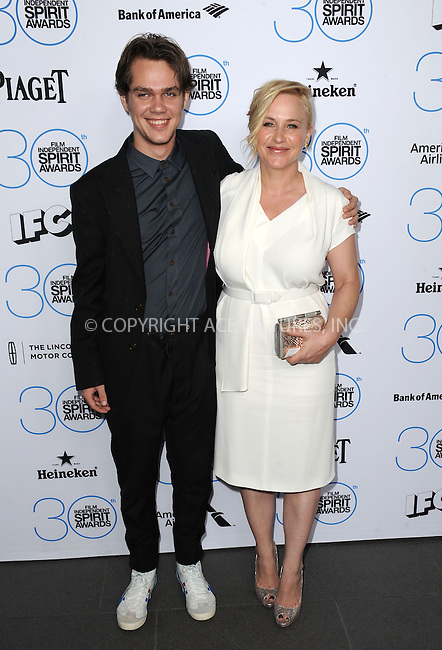 WWW.ACEPIXS.COM<br /> <br /> January 10 2015, LA<br /> <br /> Ellar Coltrane and Patricia Arquette attending the 2015 Film Independent Filmmaker Grant and Spirit Awards nominee brunch at the BOA Steakhouse on January 10, 2015 in West Hollywood, California.<br /> <br /> By Line: Peter West/ACE Pictures<br /> <br /> <br /> ACE Pictures, Inc.<br /> tel: 646 769 0430<br /> Email: info@acepixs.com<br /> www.acepixs.com