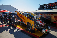 Mar 18, 2017; Gainesville , FL, USA; The car of NHRA funny car driver J.R. Todd on display at the Toyota Pit Pass display during qualifying for the Gatornationals at Gainesville Raceway. Mandatory Credit: Mark J. Rebilas-USA TODAY Sports