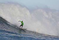 Evan Slater surfs during the 2008 Mavericks Surf Contest in Half Moon Bay, Calif., Saturday, January 12, 2008.