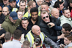 "© Joel Goodman - 07973 332324 . 11/06/2017 . Manchester , UK . TOMMY ROBINSON and KEVIN CARROLL . Demonstration against Islamic hate , organised by former EDL leader Tommy Robinson's "" UK Against Hate "" and opposed by a counter demonstration of anti-fascist groups . UK Against Hate say their silent march from Piccadilly Train Station to a rally in Piccadilly Gardens in central Manchester is in response to a terrorist attack at an Ariana Grande concert in Manchester , and is on the anniversary of the gun massacre at the Pulse nightclub in Orlando . Photo credit : Joel Goodman"