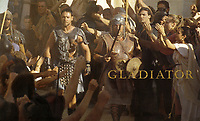 Gladiator (2000)<br /> Wallpaper with Russell Crowe<br /> *Filmstill - Editorial Use Only*<br /> CAP/KFS<br /> Image supplied by Capital Pictures