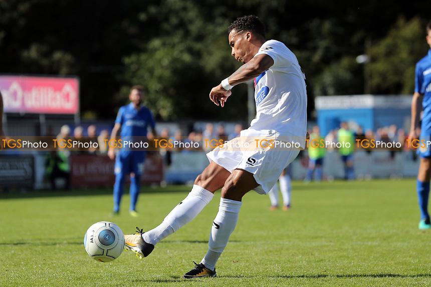 Corey Whitely of Dagenham scores the second goal from the penalty spot during Eastleigh vs Dagenham & Redbridge, Vanarama National League Football at the Silverlake Stadium on 12th August 2017