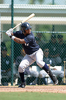 New York Yankees outfielder Ericson Leonora (65) during an Instructional League game against the Pittsburgh Pirates on September 18, 2014 at the Pirate City in Bradenton, Florida.  (Mike Janes/Four Seam Images)