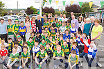 Kerry Players Padraig Reidy, Colm cooper, Peter Crowley, Paddy Curtin,  Barry John Keane and Kieran Donaghy raise the Get Active flag at Castleisland Boys NS on Friday