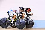 (L-R) <br /> SANGHOON PARK (KOR), <br /> Ryo Chikatani (JPN), <br /> AUGUST 29, 2018 - Cycling - Track : <br /> Men's 4000m Individual Pursuit Final  <br /> at Jakarta International Velodrome <br /> during the 2018 Jakarta Palembang Asian Games <br /> in Jakarta, Indonesia. <br /> (Photo by Naoki Nishimura/AFLO SPORT)