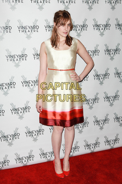 NEW YORK, NY -  FEBRUARY 24: Greta Gerwig attends the Vineyard Theatre Gala at The Edison Ballroom on February 24, 2014 in New York City. <br /> CAP/MPI/COR99<br /> &copy;COR99/MediaPunch/Capital Pictures