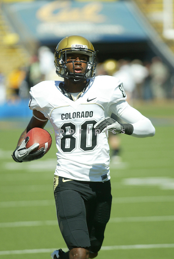 PAUL RICHARDSON, of the Colorado Buffaloes, in action during the Buffaloes game against the California Golden Bears on September 11, 2010 in Berkeley, California...California won the game 52-7..