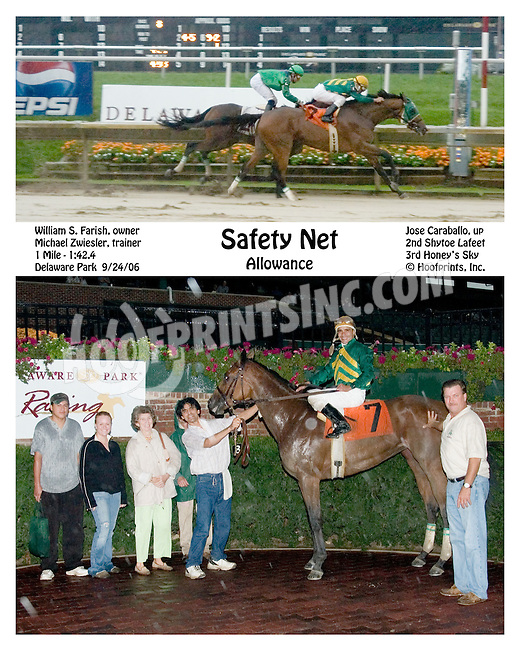 Safety Net winning at Delaware Park on 9/24/2006