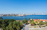 Havana Cuba panoramic from across river from above