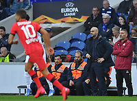 27th February 2020; Dragao Stadium, Porto, Portugal; UEFA Europa League  FC Porto versus Bayer Leverkusen; Bayer Leverkusen manager Peter Bosz gets animated on the sideline