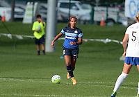 Kansas City, MO - Sunday August 28, 2016: Frances Silva during a regular season National Women's Soccer League (NWSL) match between FC Kansas City and the Boston Breakers at Swope Soccer Village.