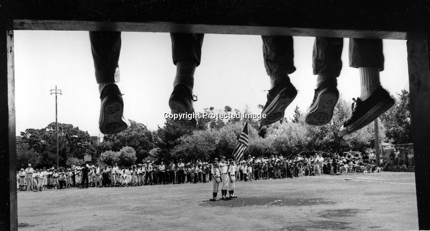 Opening day of Little League Baseball in Walnut Creek,Ca (May 23,1965) photo/Ron Riesterer