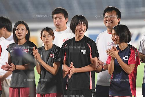 (L-R) Seika Aoyama, Asami Shintaku, <br /> JULY 25, 2015 - Athletics : <br /> All Star Night Track &amp; Field <br /> Closing Ceremony <br /> at Shonan BMW Stadium Hiratsuka, Kanagawa, Japan. <br /> (Photo by AFLO SPORT)