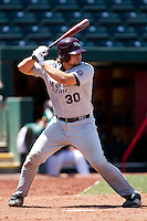 Luke Voit (30) of the Missouri State Bears at bat during a game against the Wichita State Shockers in the 2012 Missouri Valley Conference Championship Tournament at Hammons Field on May 23, 2012 in Springfield, Missouri. (David Welker/Four Seam Images)