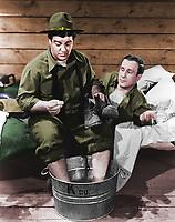Abbott and Costello in BUCK PRIVATES (colorized version)