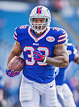 21 September 2014: Buffalo Bills fullback Frank Summers warms up prior to facing the San Diego Chargers at Ralph Wilson Stadium in Orchard Park, NY. The Chargers defeated the Bills 22-10 in AFC play. Mandatory Credit: Ed Wolfstein Photo *** RAW (NEF) Image File Available ***