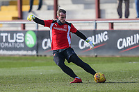 Alex Cairns of Fleetwood Town warm up ahead of the Sky Bet League 1 match between Fleetwood Town and MK Dons at Highbury Stadium, Fleetwood, England on 24 February 2018. Photo by David Horn / PRiME Media Images