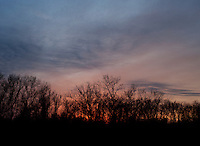 Sunset during a hunting trip in Superior, Nebraska, Friday, December 2, 2011...Photo by Matt Nager
