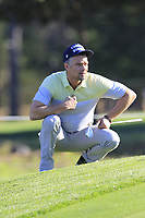 Josh Duhamel at the 1st green during Thursday's Round 1 of the 2018 AT&amp;T Pebble Beach Pro-Am, held over 3 courses Pebble Beach, Spyglass Hill and Monterey, California, USA. 8th February 2018.<br /> Picture: Eoin Clarke | Golffile<br /> <br /> <br /> All photos usage must carry mandatory copyright credit (&copy; Golffile | Eoin Clarke)