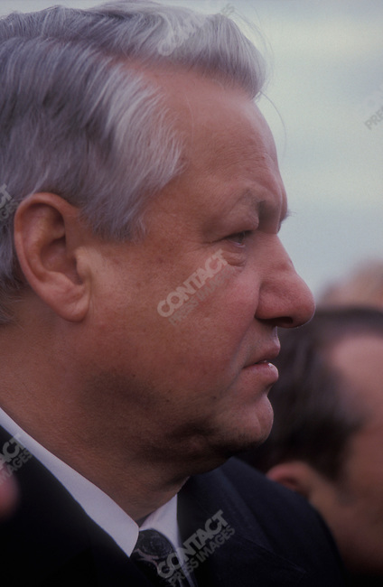 Boris Yeltsin, President of the Russian Federation, on an official visit to Germany. Bonn, Germany, November 1991.