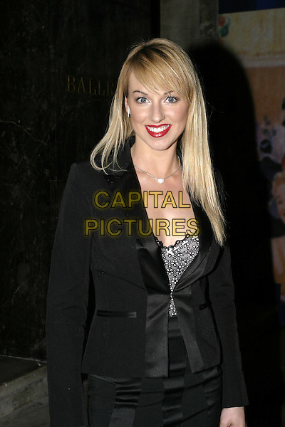 SARAH MANNERS.The RTS Programme Awards at Grosvenor House.Royal Television Society Awards.March 15th, 2005.half length black top .www.capitalpictures.com.sales@capitalpictures.com.© Capital Pictures.