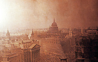"London: View from Mansion House to St. Paul's--1904. ""Heart of Empire"" by N.M. Lund."