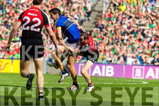 Kerry in action against  Mayo in the All Ireland Semi Final Replay in Croke Park on Saturday.