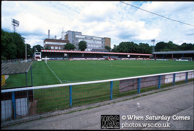 Recreation Ground. Aldershot football ground 1994. (Exact date tbc). Photo by Tony Davis. Low resolution file only