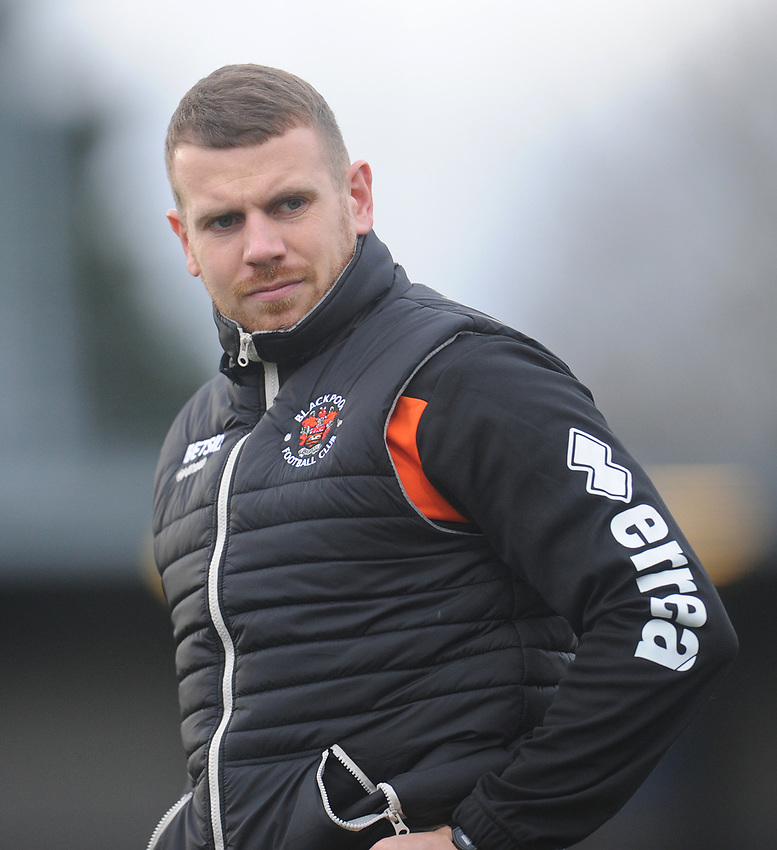 Blackpool Fitness Coach Adam Forrest during the pre-match warm-up <br /> <br /> Photographer Kevin Barnes/CameraSport<br /> <br /> The EFL Sky Bet League One - AFC Wimbledon v Blackpool - Saturday 29th December 2018 - Kingsmeadow Stadium - London<br /> <br /> World Copyright © 2018 CameraSport. All rights reserved. 43 Linden Ave. Countesthorpe. Leicester. England. LE8 5PG - Tel: +44 (0) 116 277 4147 - admin@camerasport.com - www.camerasport.com