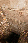 Israel, Jerusalem Archaeological Park, a digging by the Western Wall demonstrates its depth<br />
