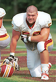 Washington Redskins center Cory Raymer (52) watches drills during a break at Redskin training camp at Redskin Park in Ashburn, Virginia on July 21, 2000.  <br /> Credit: Arnie Sachs / CNP