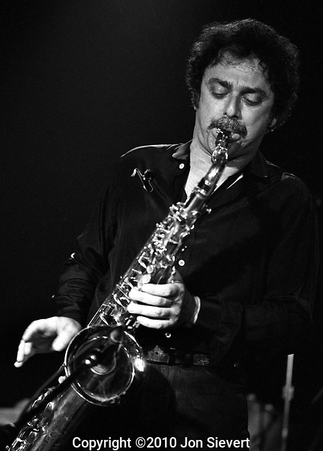 Steve Douglas, 6/25/83, The Stone, San Francisco. 66-18-26A, American saxophonist, flautist and clarinetist. Douglas is best known as a Los Angeles session musician, a member of The Wrecking Crew, who worked with Phil Spector, Brian Wilson and The Beach Boys. He can be heard on records by Duane Eddy, Aretha Franklin, Elvis Presley, Willy DeVille, Bob Dylan and many others. He was also a record producer, having produced Mink DeVille's Le Chat Bleu.<br />