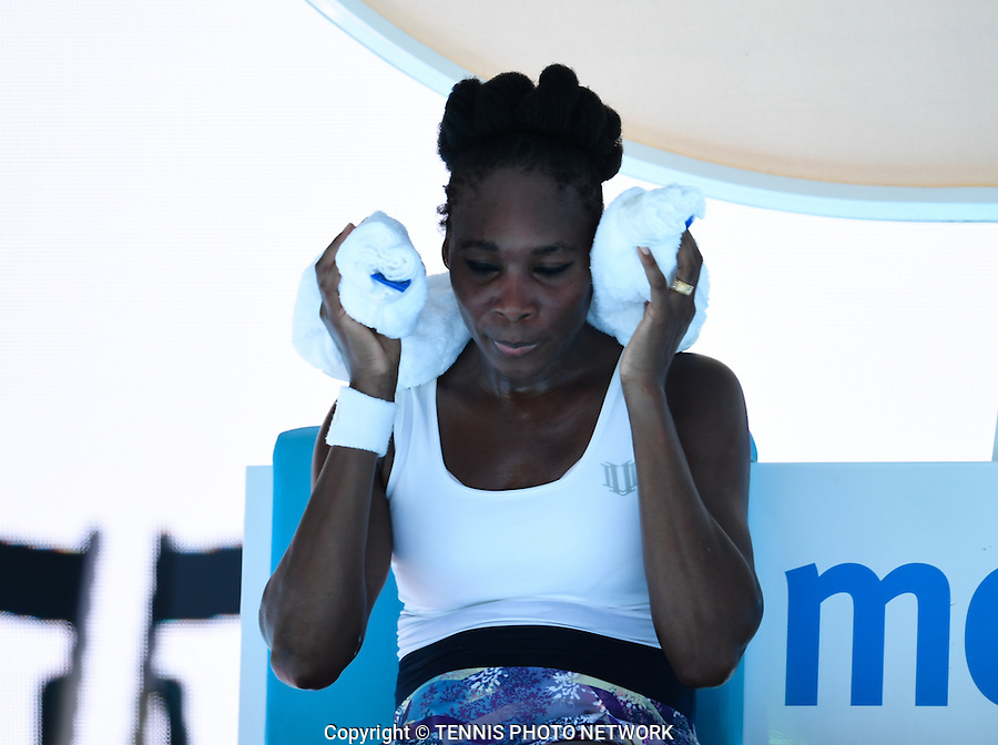 VENUS WILLIAMS (USA)<br /> <br /> TENNIS , AUSTRALIAN OPEN,  MELBOURNE PARK, MELBOURNE, VICTORIA, AUSTRALIA, GRAND SLAM, HARD COURT, OUTDOOR, ITF, ATP, WTA<br /> <br /> &copy; TENNIS PHOTO NETWORK