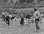 Bethel Park PA:  Bethel Recreation Football League's Chamber of Commerce Football team.  We played all the games at the Senior High Football Field. Team members include; John Rassmussen, Mike Stewart, Scott Streiner, Fred Griffin, Rick Matthews, Joe Fredley, Bruce Mahoney, Coaches Frank Feeney and Jim Mahoney.  Mr Chris, Director of the Recreation League was also the referee.