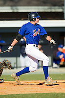 Michael Carpin (32) of Wando High School follows through on his swing at the 2012 South Atlantic Border Battle on November 3, 2012 in Burlington, North Carolina.  The Mets (SC13) defeated the Red Sox (NC 13) 3-2.  (Brian Westerholt/Four Seam Images)