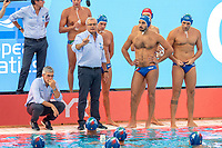 ITA Coach CAMPAGNA Alessandro TIME OUT <br /> CRO - ITA Croatia (white caps) vs. Italy (blue caps) <br /> Barcelona 28/07/2018 Piscines Bernat Picornell <br /> Men Final 3rd 4th Place  <br /> 33rd LEN European Water Polo Championships - Barcelona 2018 <br /> Photo Andrea Staccioli/Deepbluemedia/Insidefoto